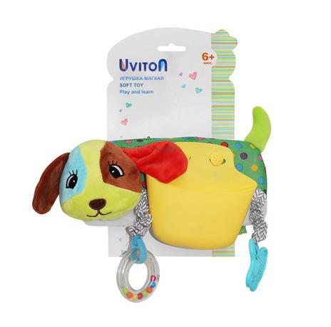 "0136/01 Uviton Игрушка-карман на коляску/кроватку ""Dog"""