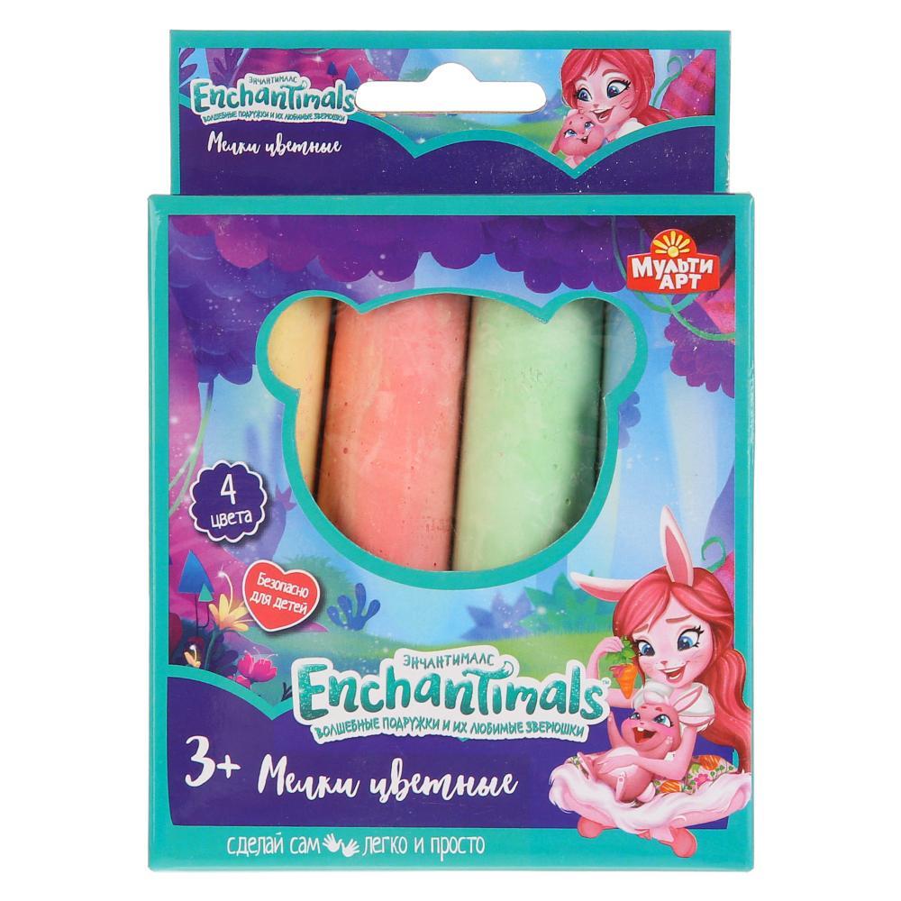 40104-EN Набор д/творчества мелки цветные MultiArt Enchantimals, 4 цвета