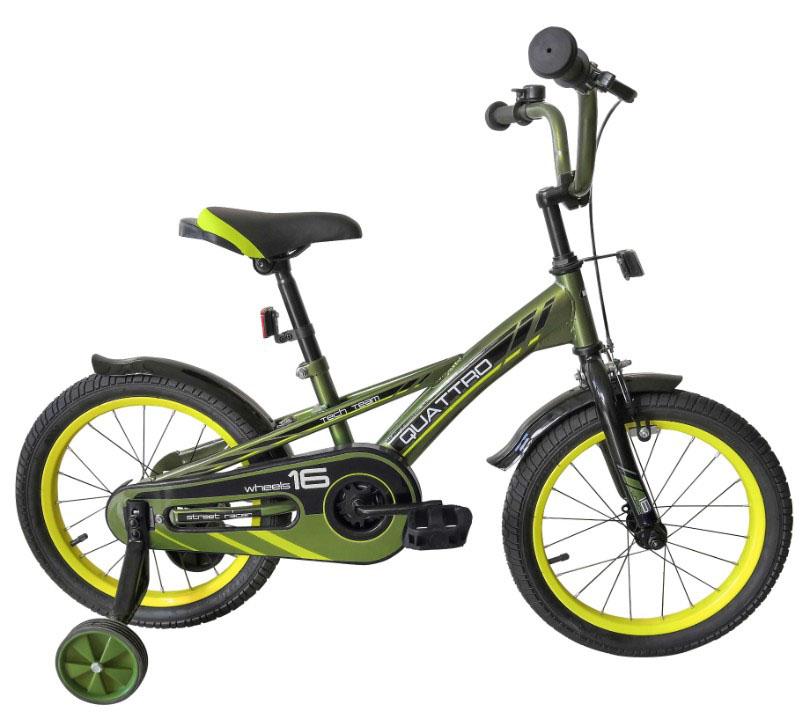 """Велосипед TechTeam Quattro 14"""" хаки (сталь)"""