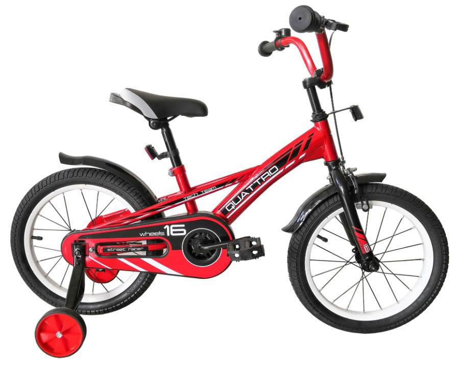 """Велосипед TechTeam Quattro 16"""" красный (сталь)"""