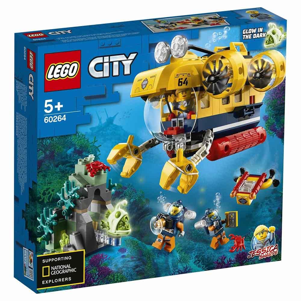"""Конструктор LEGO CITY """"Океан: исследовательская подводная лодка"""" 60264"""