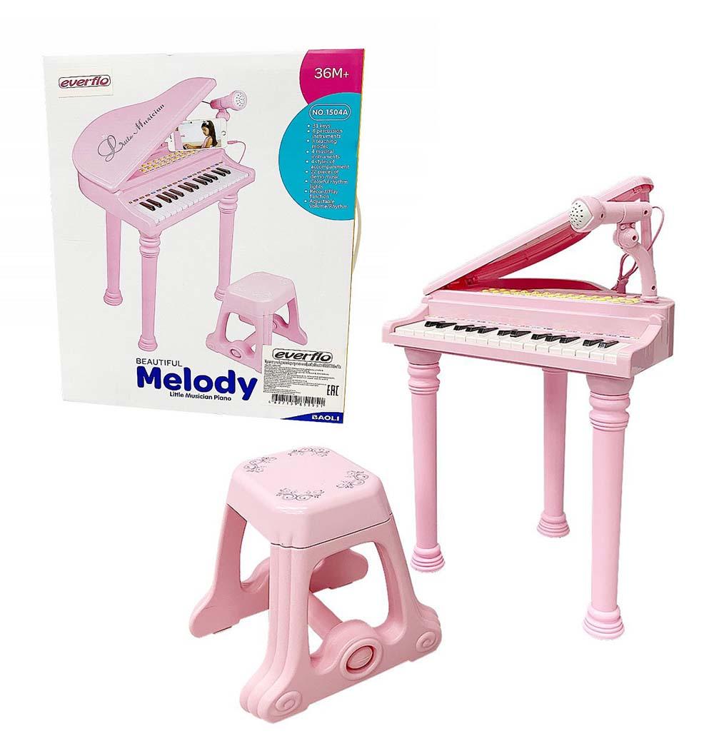 Музыкальный детский центр-пианино Everflo Maestro HS0330686 pink