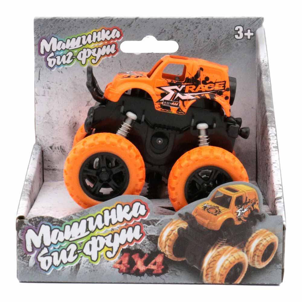 60004 Машинка 4*4 инерционная оранжевая Funky toys