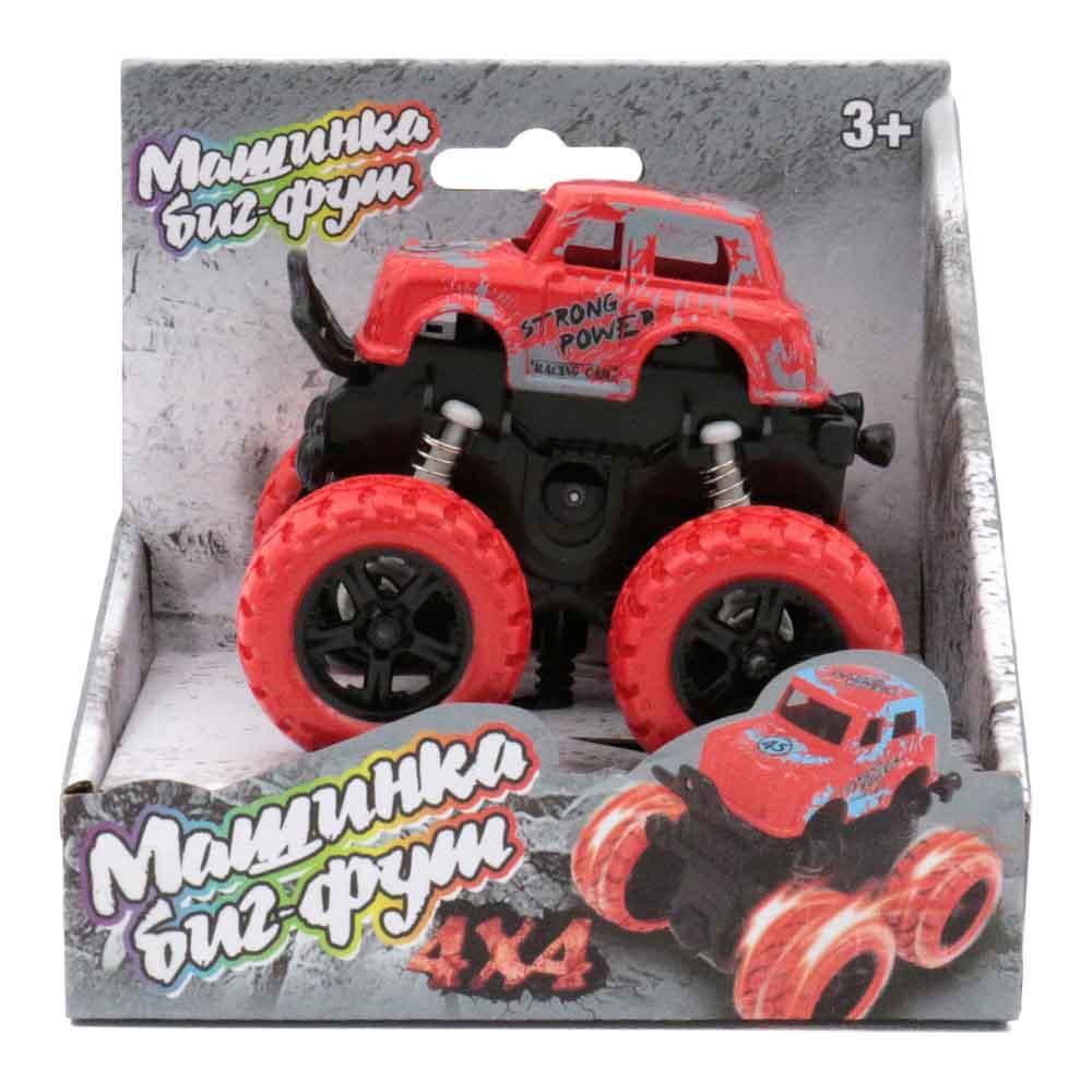 60001 Машинка 4*4 инерционная красная Funky toys
