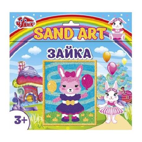 12100463Р Набор для творчества - Картинка из песка Зайка