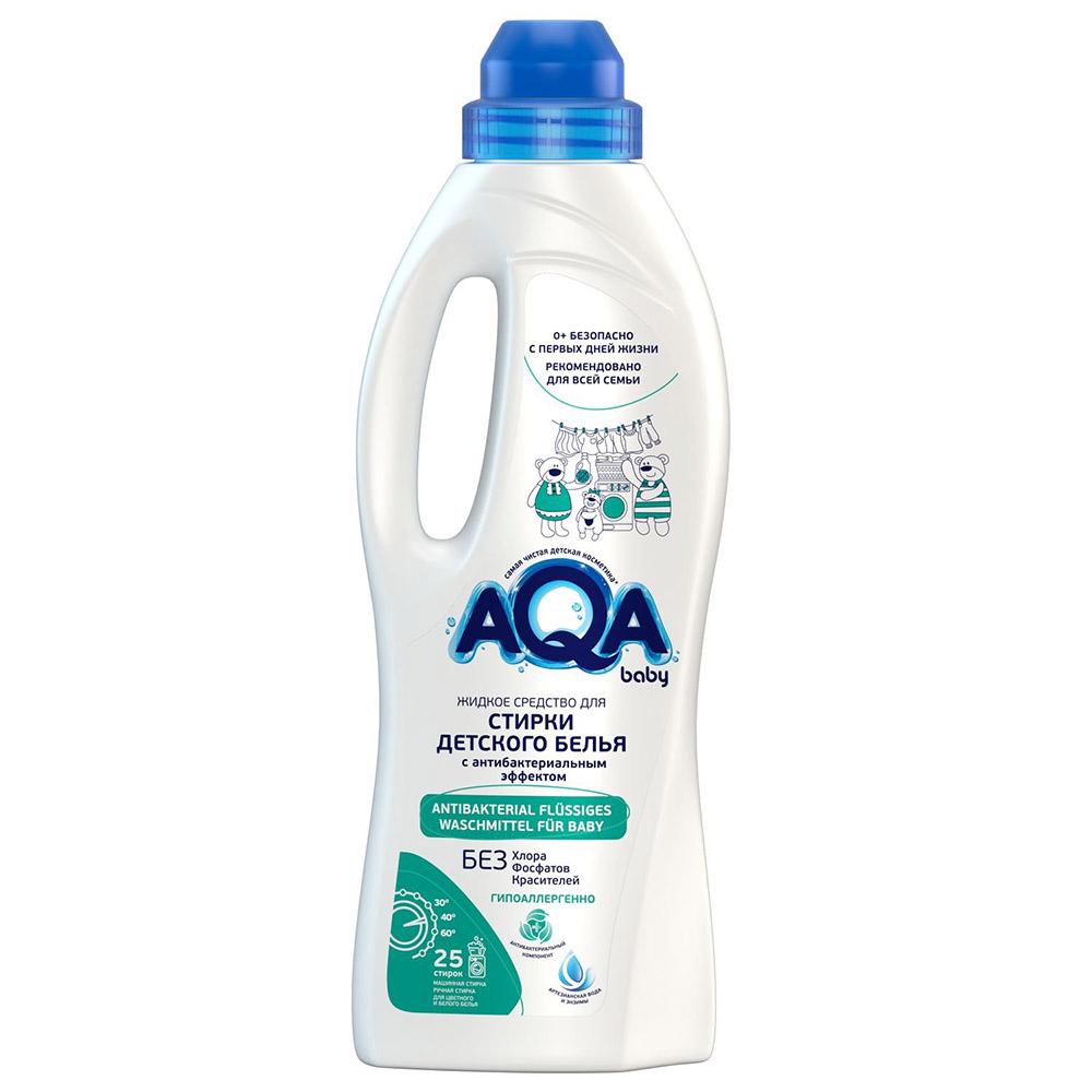 02016104 AQA baby Жидкое средство для стирки детского белья с антибактериальным эффектом, 1000 мл
