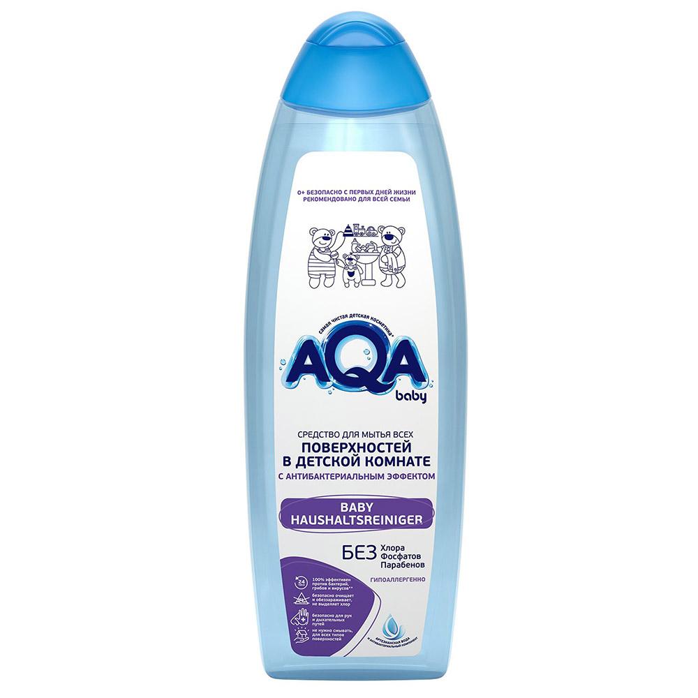 02016404 AQA baby Средство для мытья всех поверхностей в детской комнате с антибактериальным эффектом, 500 мл