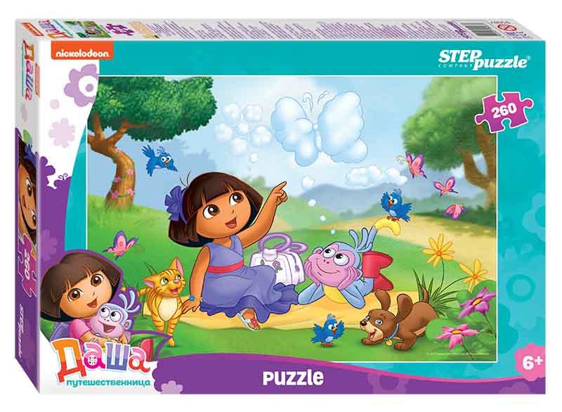 """95087 Мозаика """"puzzle"""" 260 """"Даша-путешественница"""" (Никелодеон)"""