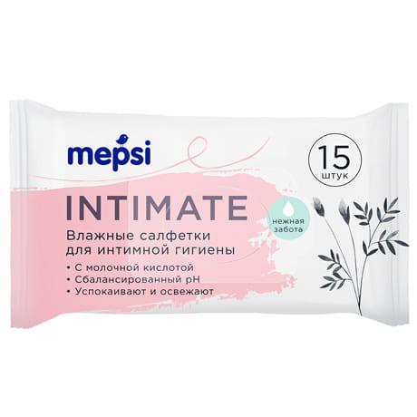 MEPSI Влажные салфетки для интимной гигиены, 15 шт.