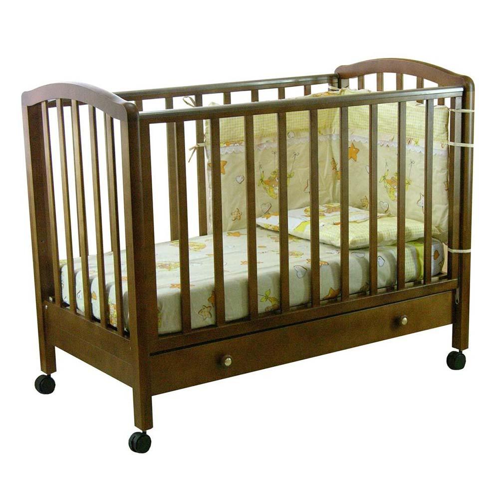 Кровать детская Фея 600 темный мед 5548