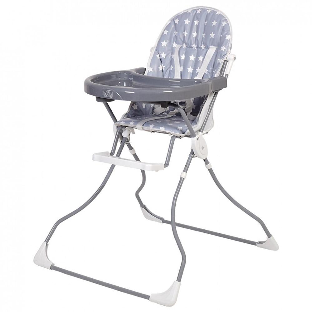 Стульчик для кормления Polini kids 152 Звезды, серый-белый 2218-16