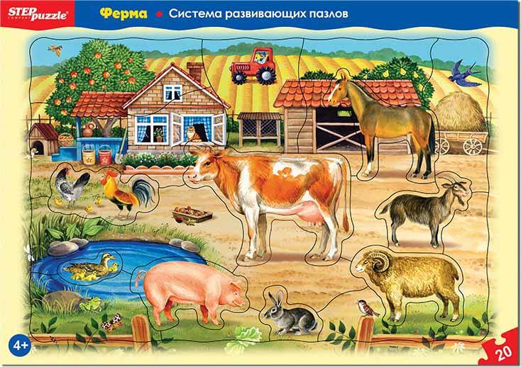 """80454 Развивающий пазл """"Ферма"""" (большие)"""