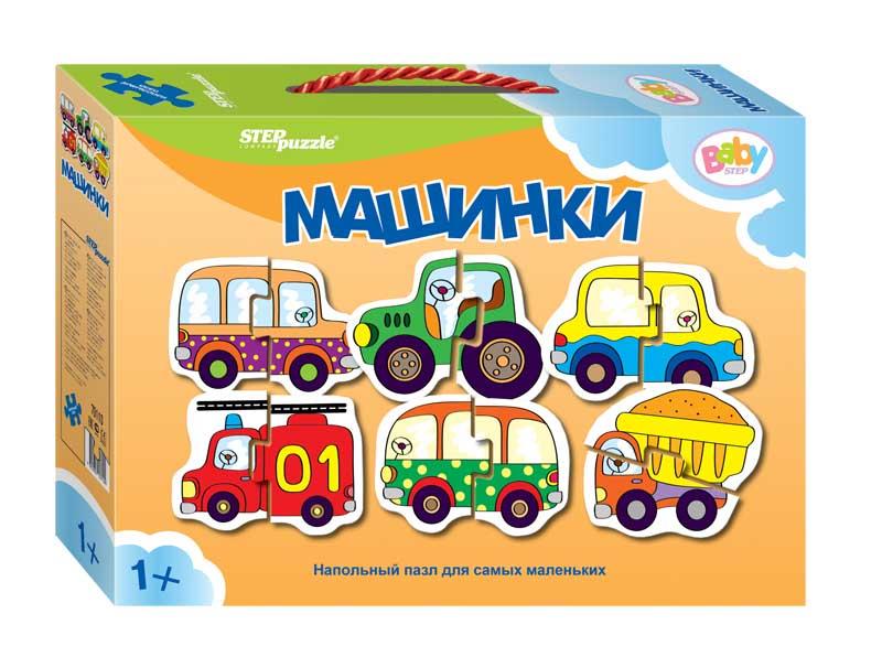 """70110 Напольный пазл-мозаика """"Машинки"""" (Baby Step) (малые)"""