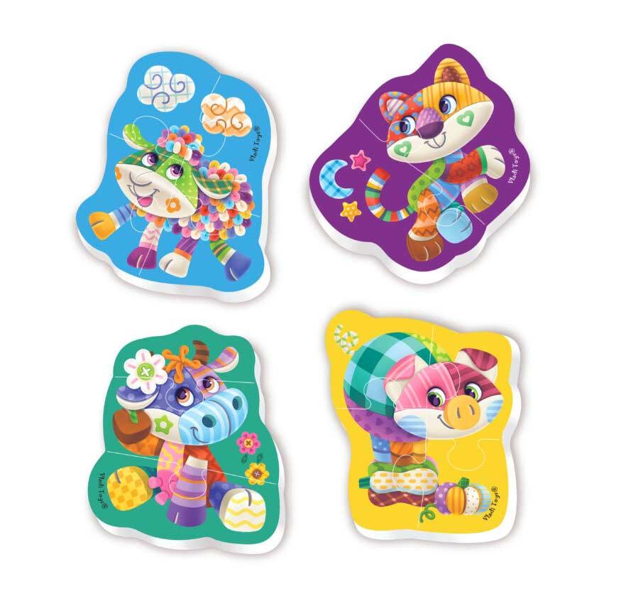 VT1106-59 Мягкие пазлы Baby puzzle Чудо ферма