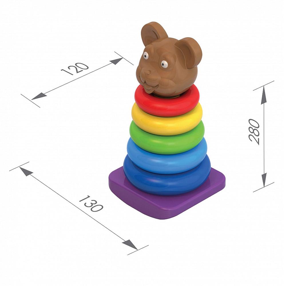 """Пирамидка-качалка """"Медведь"""" 425"""
