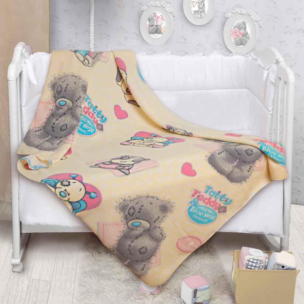 520014/11 Плед флисовый Teddy и голубоносики