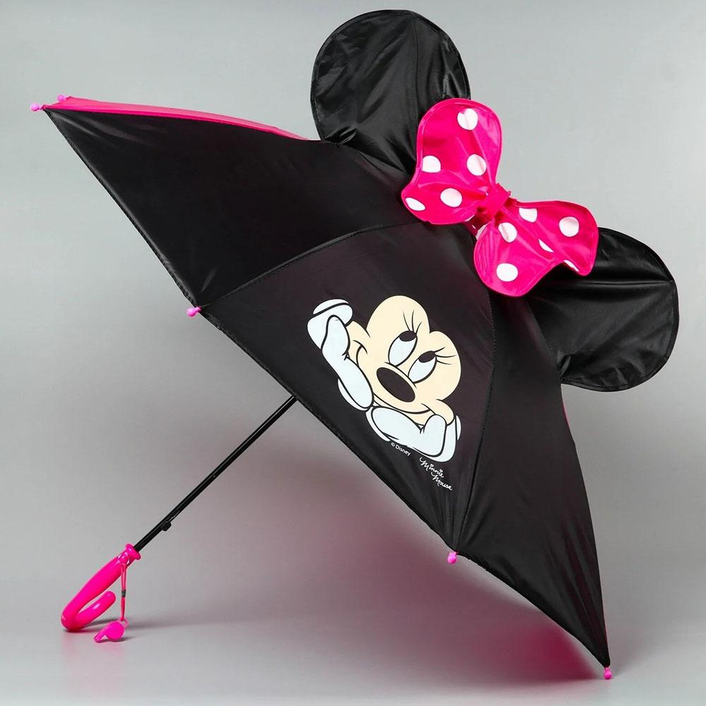 "2919718 Зонт детский ""Minnie Mouse"" 8 спиц d=70 см с ушками"