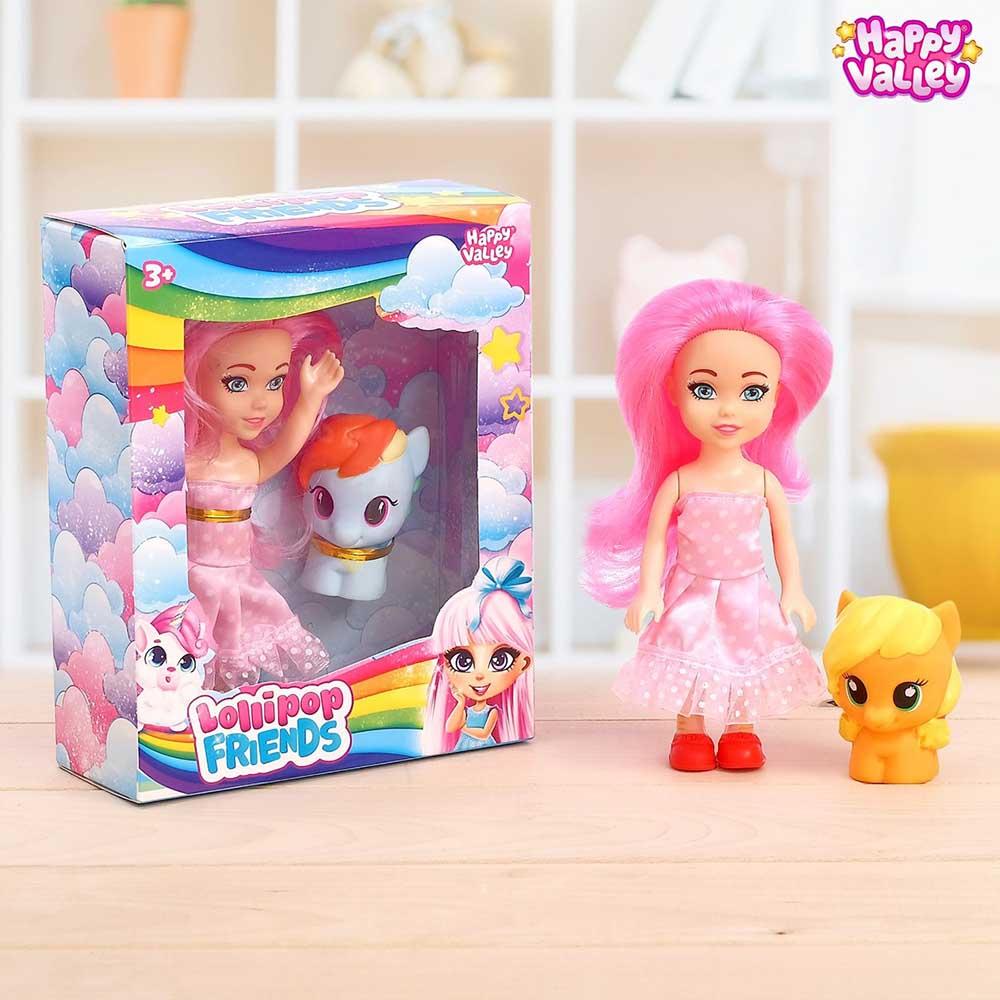 "4562338 HAPPY VALLEY Кукла в наборе с пони ""Lollipop friends"" SL-03194 МИКС"