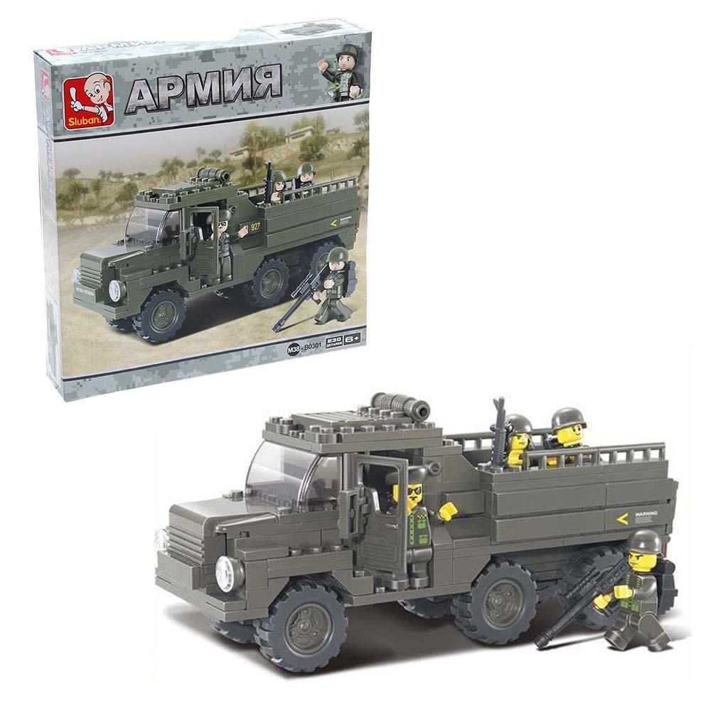 """580220 Конструктор """"Военный грузовик"""", 230 деталей"""