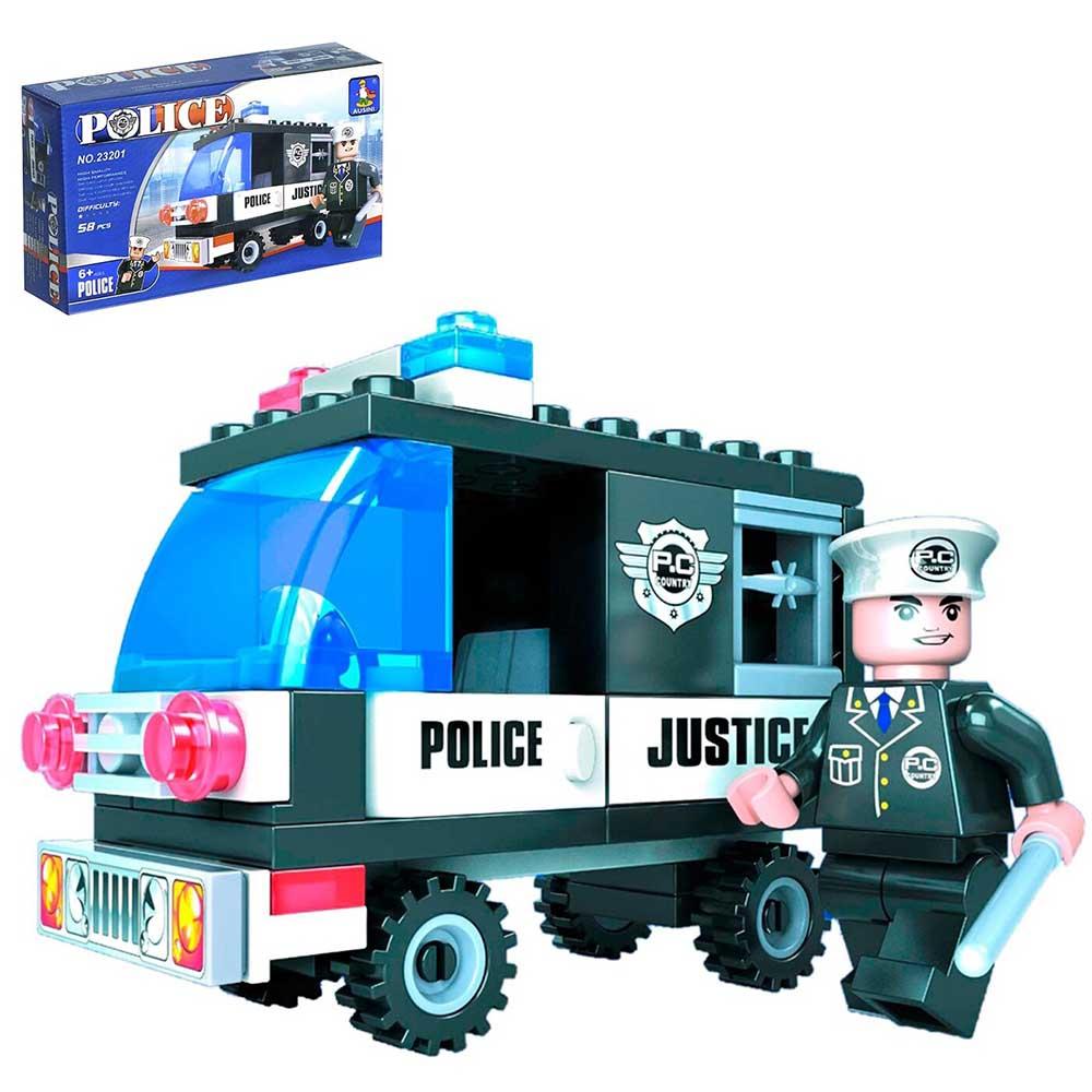 """460613 Конструктор Патруль """"Полиция"""", 58 деталей"""