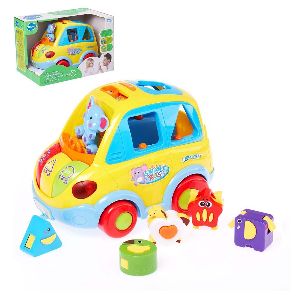 """4404215 Развивающая игрушка """"Машинка"""", световые и звуковые эффекты, с сортером"""