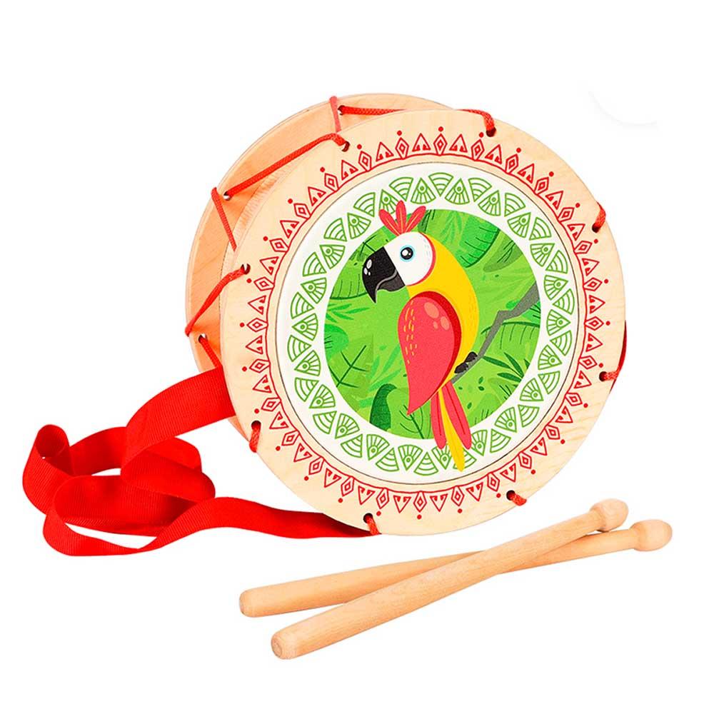 Игрушка детская барабан «Попугай»