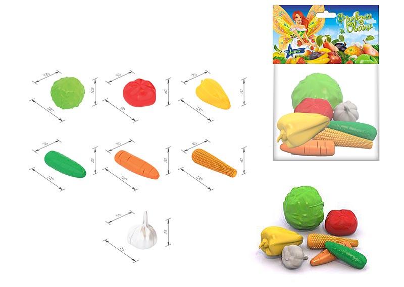 """Набор """"Овощи"""" (7 предметов в пакете) 436"""