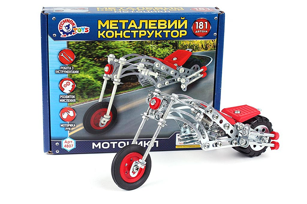 Конструктор металл Мотоцикл 4807