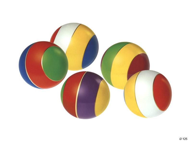 Мяч д. 125мм лакир.с-21ЛП (полоса), арт. С-21ЛП