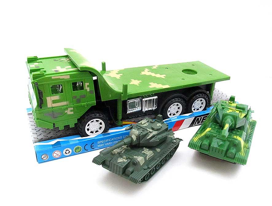 Автовоз с танками (инерционный) №6896
