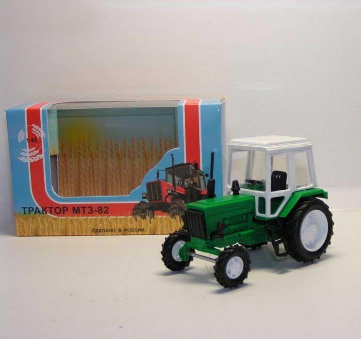 1:43 трактор МТЗ-82 (пластмасса, цвет: зеленый) 160004