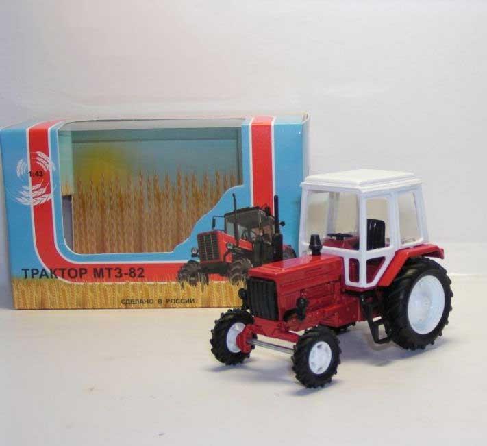 1:43 трактор МТЗ-82 (металл с пласт.кабиной, красный) 160102