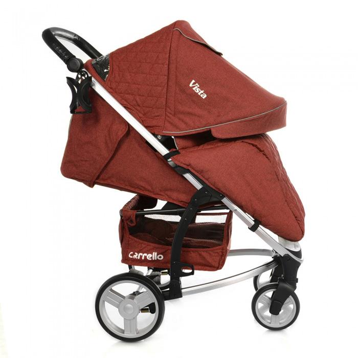 Детская коляска CARRELLO Vista CRL-8505 Deep Red