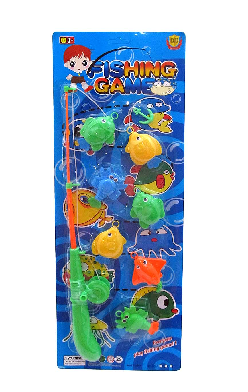 """Рыбалка пластиковая """"ЧУДЕСНЫЕ РЫБКИ-2"""" (7 рыбок, 1 удочка) (Арт. 100535244)"""