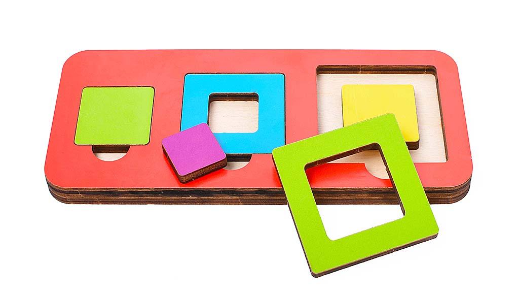 Игрушка детская: 04098 Вкладыш 6 элементов (по системе раннего развития) цвет в асс-те