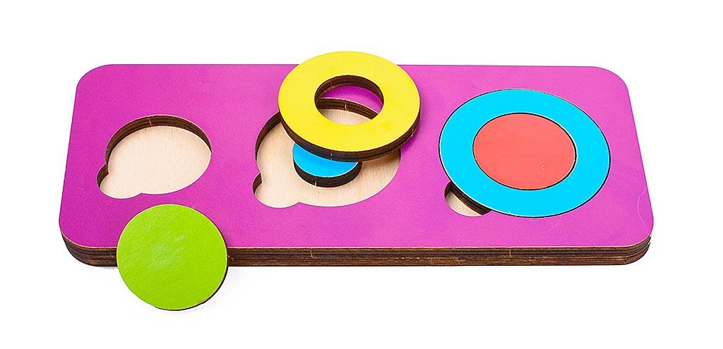 Игрушка детская: 04088 Вкладыш 6 элементов (по системе раннего развития) цвет в асс-те