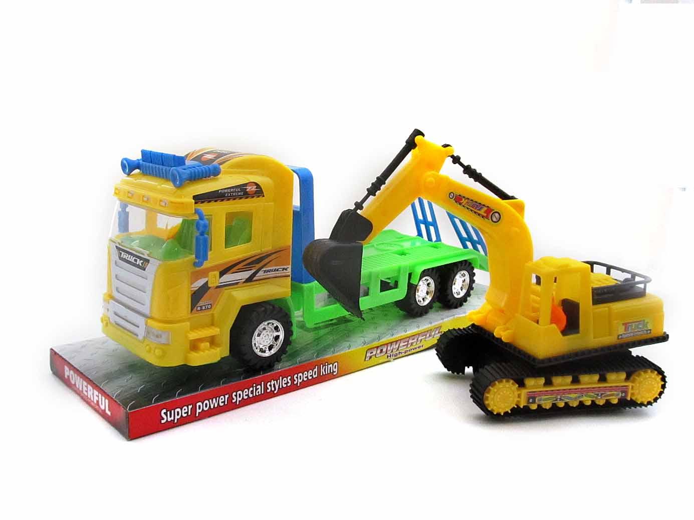 Автовоз  со строительной техникой №588