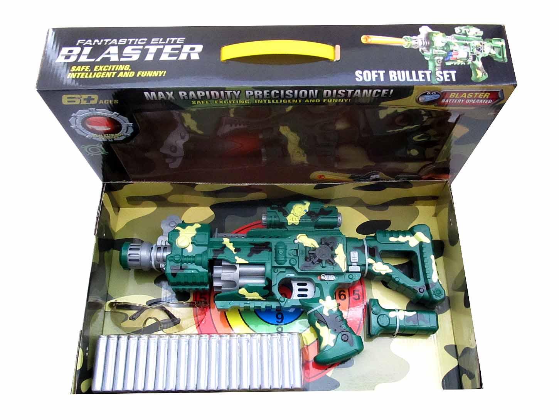 Бластер №SB247 с мягкими патронами и аксессуарами/на батарейках