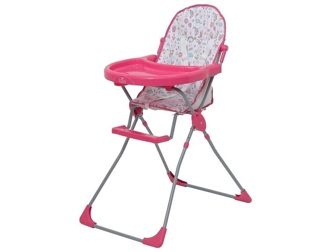 Стульчик для кормления Polini kids 152 Единорог Сладости, розовый