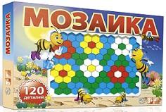 Мозайка Пчелка 120эл в коробке (12шт) 0001