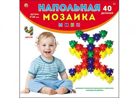 НАПОЛЬНАЯ МОЗАИКА МИНИ В КОРОБКЕ (40 деталей) (Арт. М-0718)