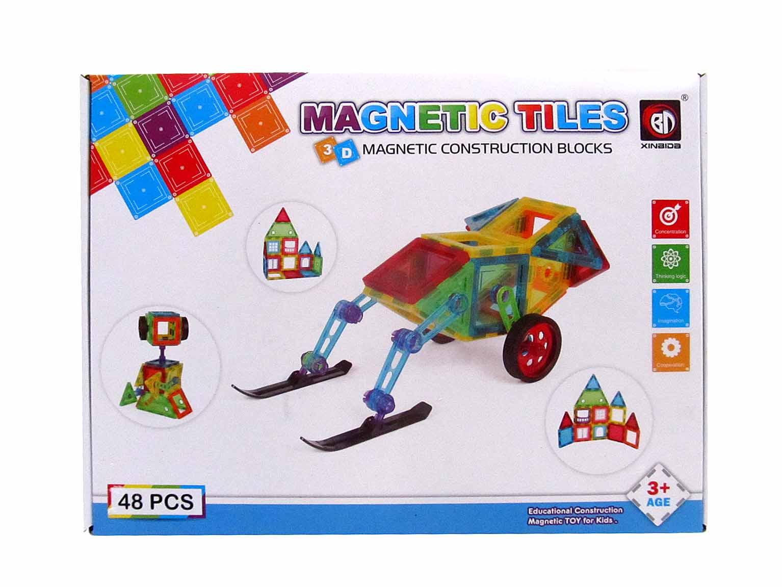 Магнитный конструктор 48 дет 9914