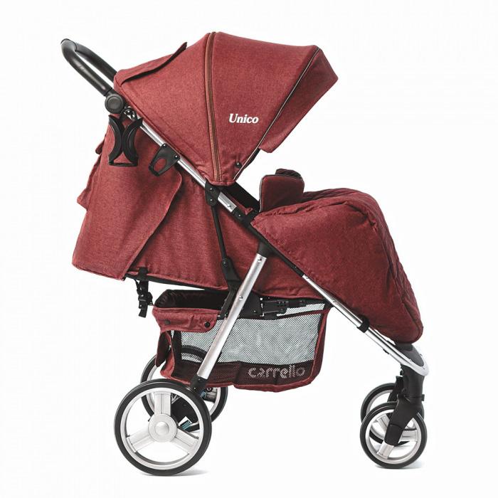 Детская коляска CARRELLO  Unico  CRL-8507 Deep Red