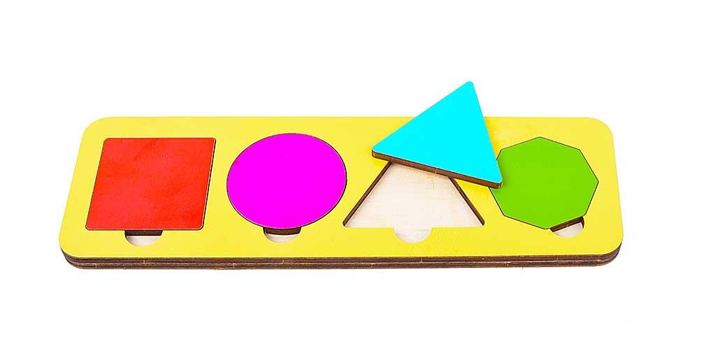 Игрушка детская:04028 Вкладыш 5 элементов (по системе раннего развития) цвет в асс-те
