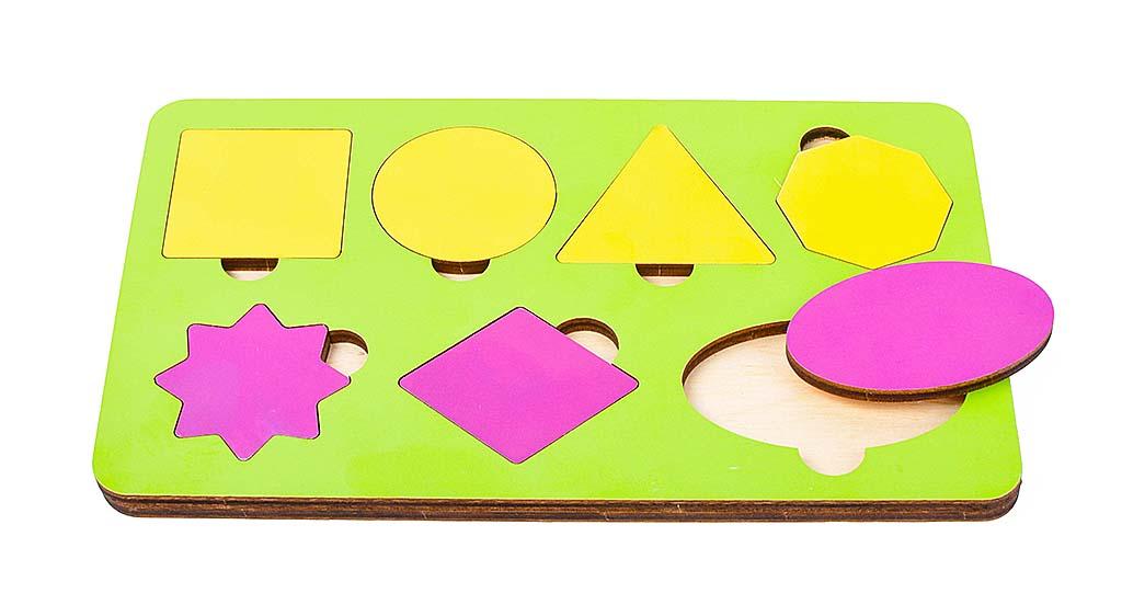 Игрушка детская:04018 Вкладыш 8 элементов (по системе раннего развития) цвет в асс-те