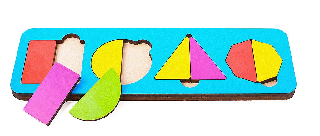 Игрушка детская:04048 Вкладыш 9 элементов (по системе раннего развития) цвет в асс-те
