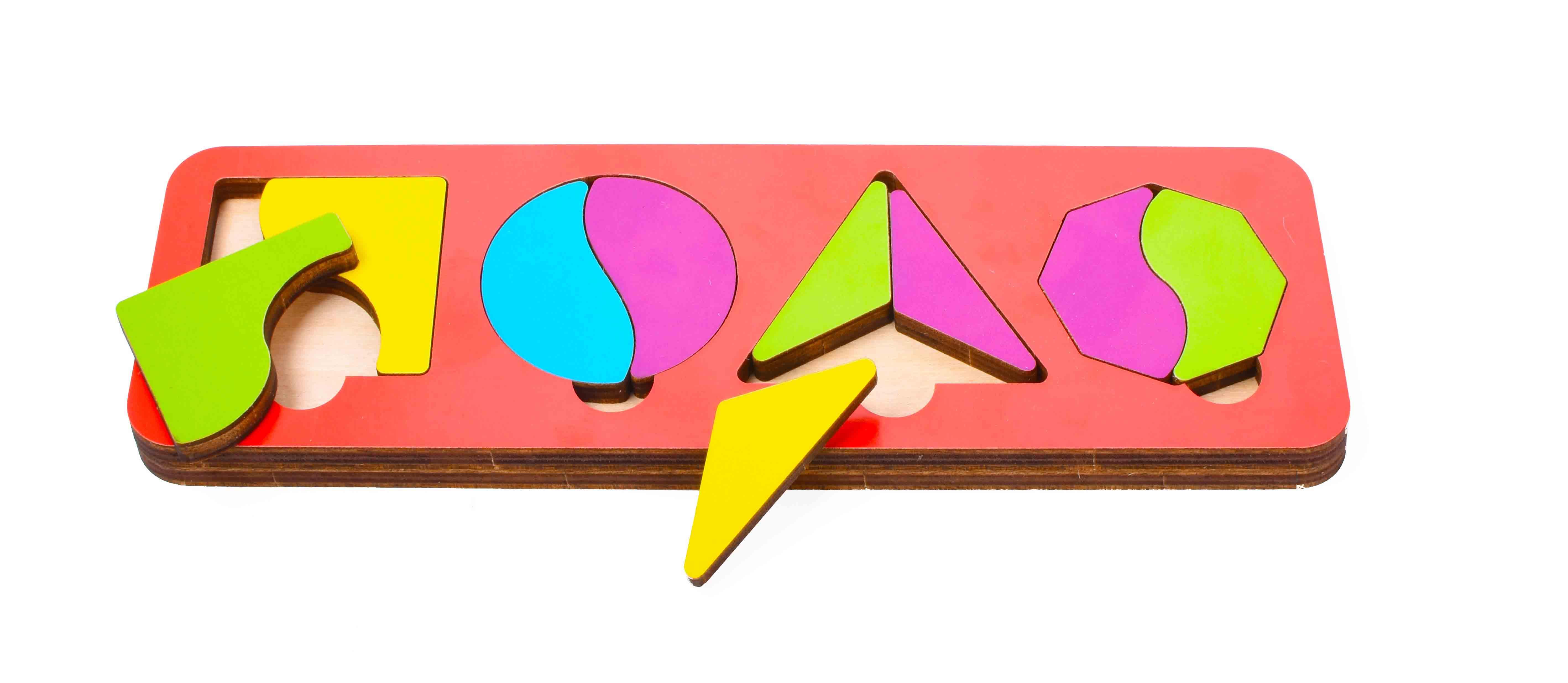 Игрушка детская:04058 Вкладыш 10 элементов (по системе раннего развития) цвет в асс-те