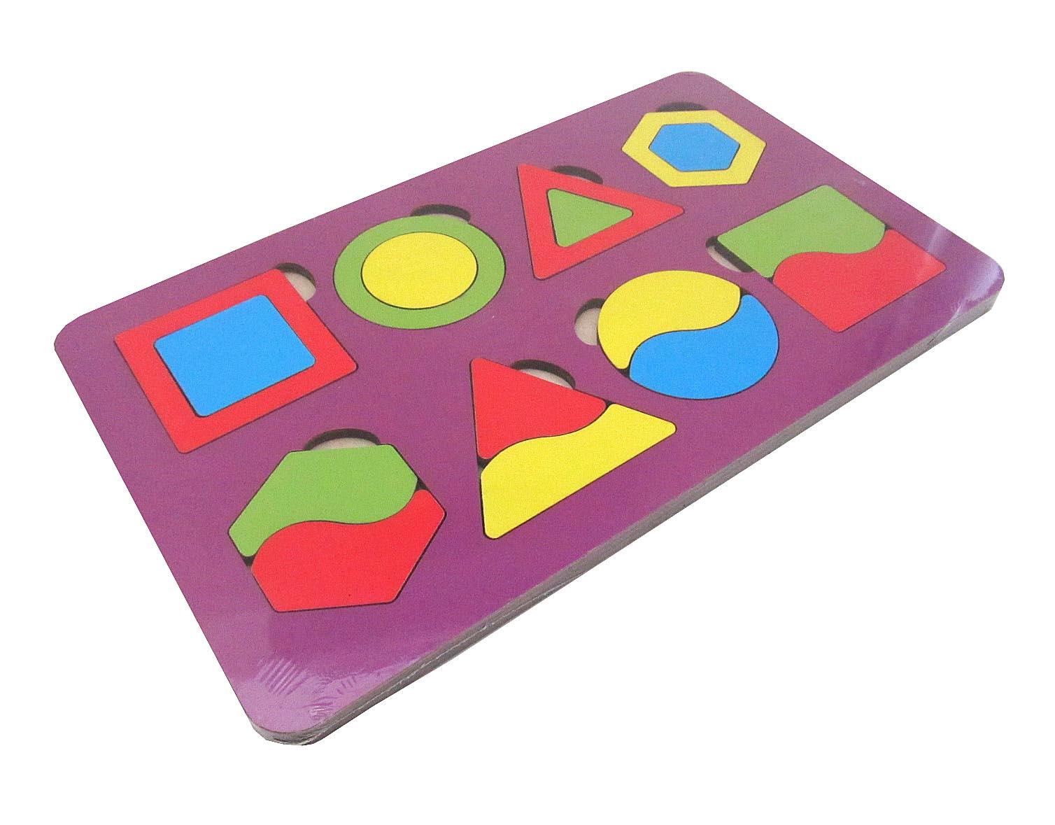 Игрушка детская:04068 Вкладыш 18 элементов (по системе раннего развития) цвет в асс-те