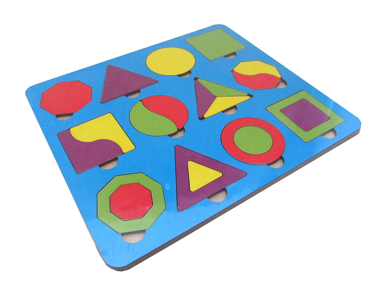 Игрушка детская:04138 Вкладыш 22 элемента (по системе раннего развития) цвет в асс-те