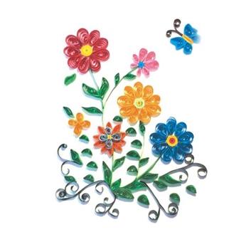 Набор для детского творчества. Квиллинг. БАБОЧКА И ЦВЕТЫ (европодвес) (Арт. М-8012)